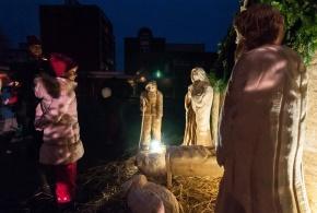 Rozsvícení vánočního stromu na sídlišti Písnice 28.11.2015