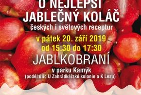 Jablkobraní 2019 - open air festival v parku Kamýk se soutěží o nejlepší jablečný koláč