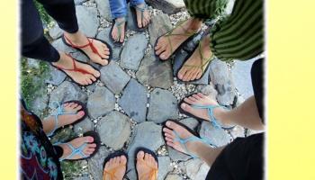 Výroba barefoot sandálů Huarache